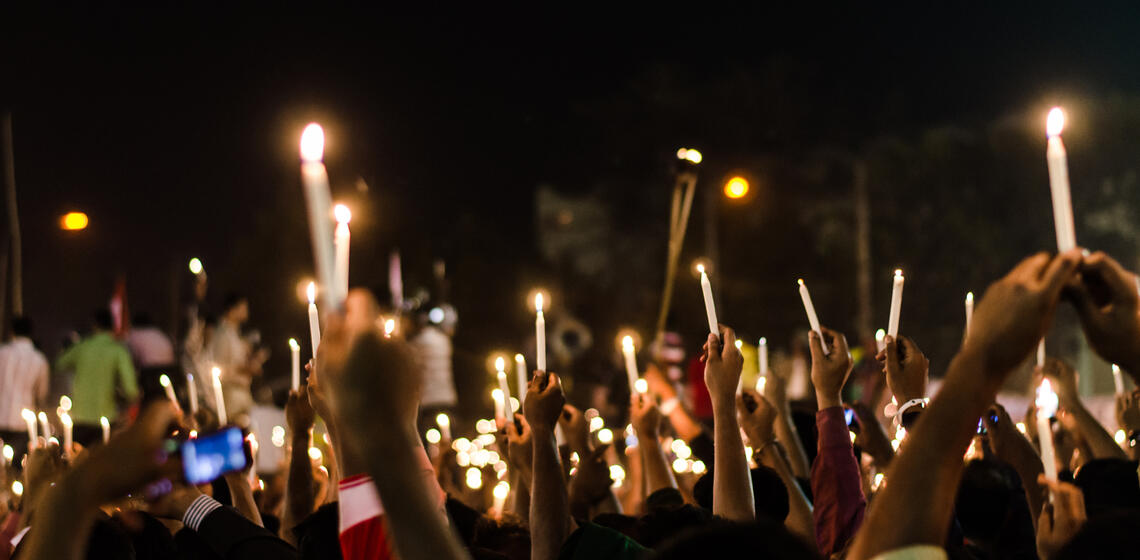 Lighting the World Protesting Darkness, Fayek Tasneem Khan (Getty Images)