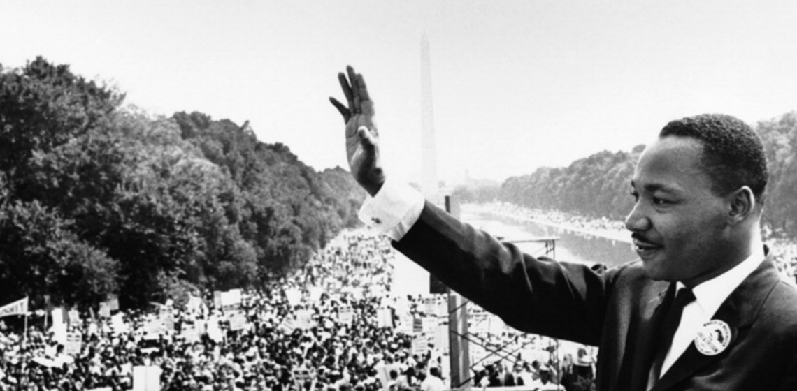Martin Luther King Jr's speech 'I Have A Dream' at the Lincoln Memorial (public domain)